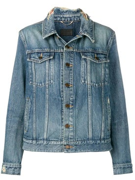 Saint Laurent - Frayed Collar Denim Jacket - Women