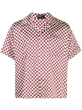 Enfants Riches Deprimes - Checkered Open Collar Shirt - Men