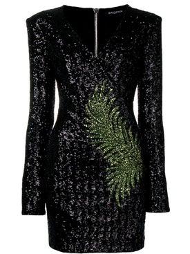 Balmain - Sequin Fern Mini Dress - Women