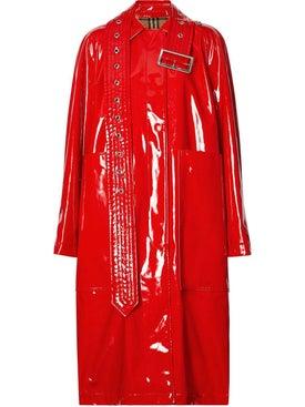 Burberry - Belt Detail Laminated Coat - Women