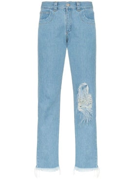 Marques'almeida - Straight-leg Ripped Jeans - Distressed