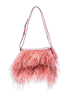Marques'almeida - Feathered Shoulder Bag Pink - Women