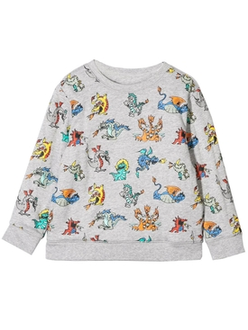 Kids reversible dragon print sweatshirt