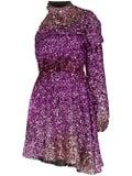 Halpern - Purple One-shoulder Sequin Mini Dress - Women