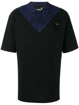 Fred Perry X Raf Simons - Two Tone Polo Shirt Black - Polo Shirts
