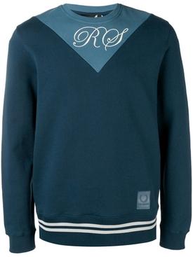 two tone sweatshirt BLUE