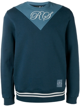 Fred Perry X Raf Simons - Two Tone Sweatshirt Blue - Men