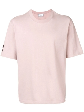 Crewneck Tee With 9 Patch PINK