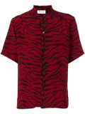 Saint Laurent - Red And Black Animal Print Shirt - Men
