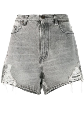 SANDY GREY distressed denim shorts