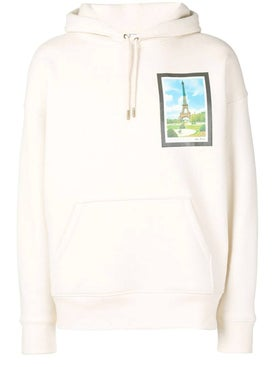 Ami Alexandre Mattiussi - Over-sized Postcard Print Hoodie White - Men