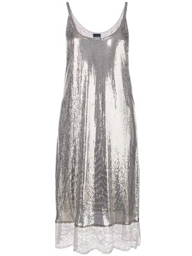 Paco Rabanne - Lace Hem Dress - Mid-length