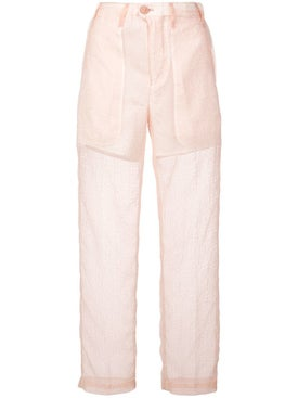 Julien David - Slim Sheer Trousers - Women