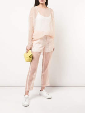 slim sheer trousers PINK