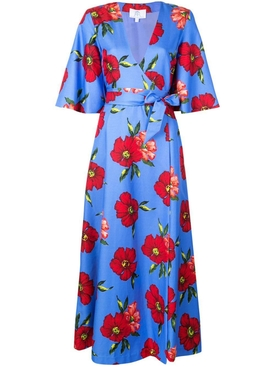 floral print wrap dress MULTICOLOR