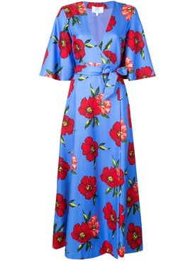 Rebecca De Ravenel - Floral Print Wrap Dress - Women