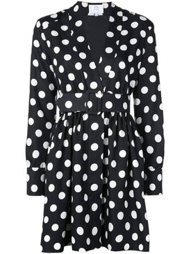 Rebecca De Ravenel - Polka Dot Belted Dress - Women