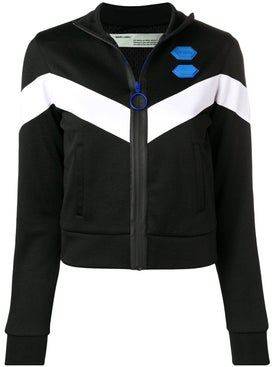 Off-white - High Neck Logo Track Jacket Black - Women