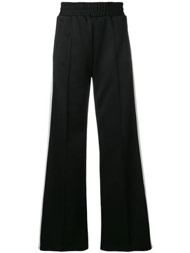 Off-white - Wide Leg Side Stripe Track Pants Black - Women