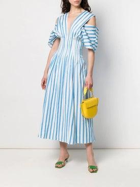Maison Rabih Kayrouz - Cold-shoulder Striped Dress - Mid-length