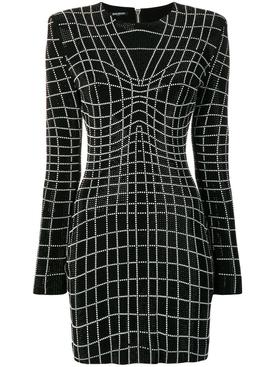 rhinestone optical illusion dress