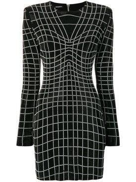 Balmain - Rhinestone Optical Illusion Dress - Women