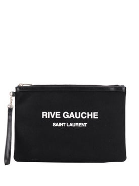 Saint Laurent - Black Logo Print Pouch Black - Men