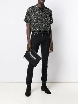 Saint Laurent - Black Logo Print Pouch Black - Men