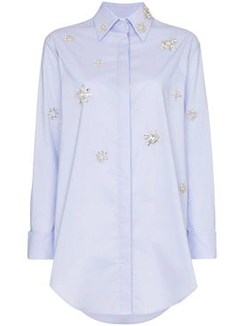 Area - Embellished Shirt Dress - Women