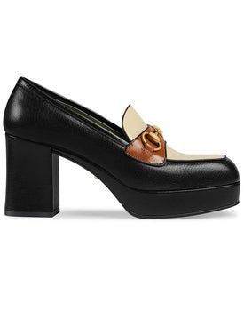 Gucci - Leather Platform Loafer With Horsebit - Women