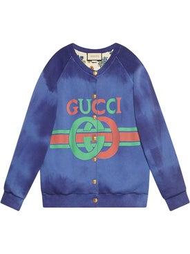 Gucci - Cotton Sweatshirt With Gucci Logo - Women
