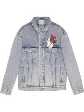 Gucci - Embroidered Oversize Denim Jacket - Men