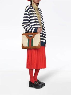 Gucci - Large Vintage Canvas Shoulder Bag - Women