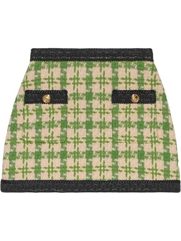 2c8d1a1a7e Tweed check A-line skirt