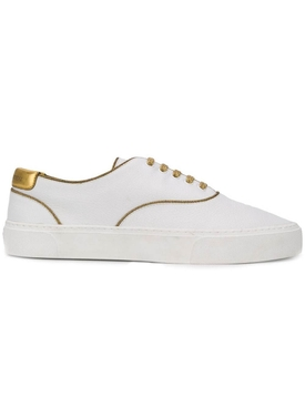Saint Laurent - Gold Detail Venice Low-top Sneakers - Men