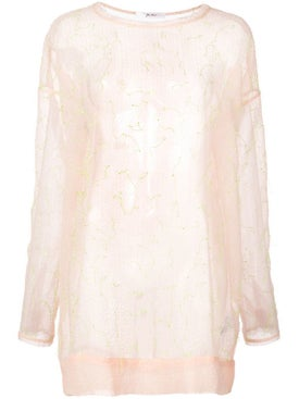 Julien David - Sheer Panel Sweatshirt - Women