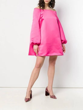 Sara Battaglia - Off-shoulder Mini Dress - Women
