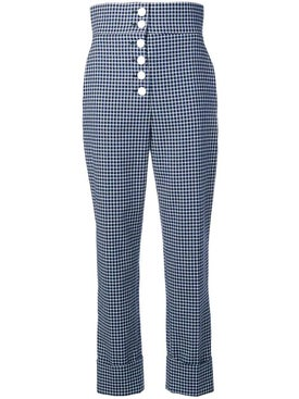 Sara Battaglia - High-waisted Checked Trousers - Women