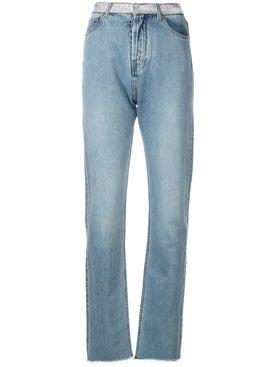 Alexandre Vauthier - Crystal Belt Jeans - Women