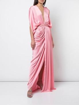 plunge neck gown