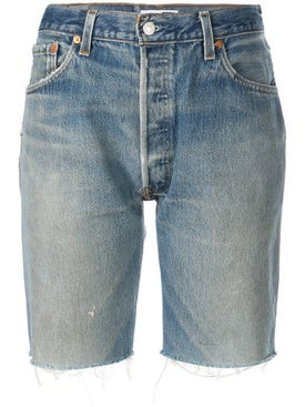 Re/done - Knee Length Denim Shorts - Women