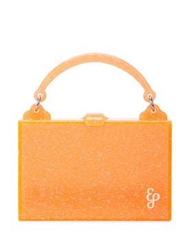Edie Parker - Orange Small Box Bag - Bags