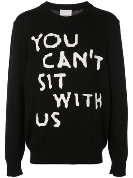 YOU CANT SIT WITH US pullover sweater BLACK