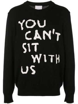 Nasaseasons - You Cant Sit With Us Pullover Sweater Black - Men