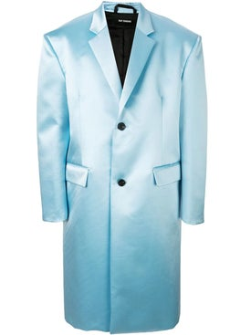 Raf Simons - Blue Shiny Tailored Coat - Men