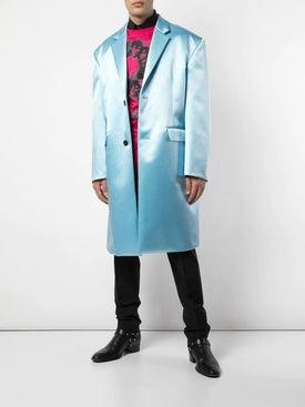 Raf Simons - Blue Shiny Tailored Coat - Men