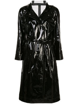 Alexachung - Wet-look Trench Coat Black - Women