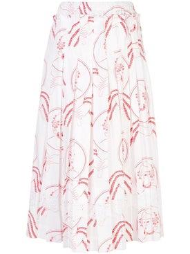 Simone Rocha - Printed Pleated Skirt - Midi