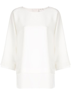 boat neck blouse WHITE