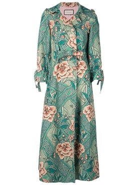 Loraine floral print coat GREEN